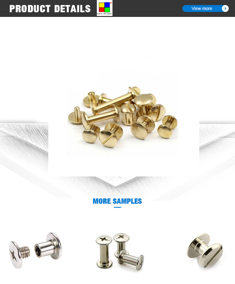 Oem Stainless Slotted Head Male Female Chicago Screws Stainless