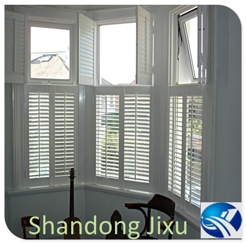 Horizontal opening waterproof white plantation shutters vinyl from china