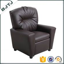 BJTJ Cheap home black leather small children sofa 7950KD
