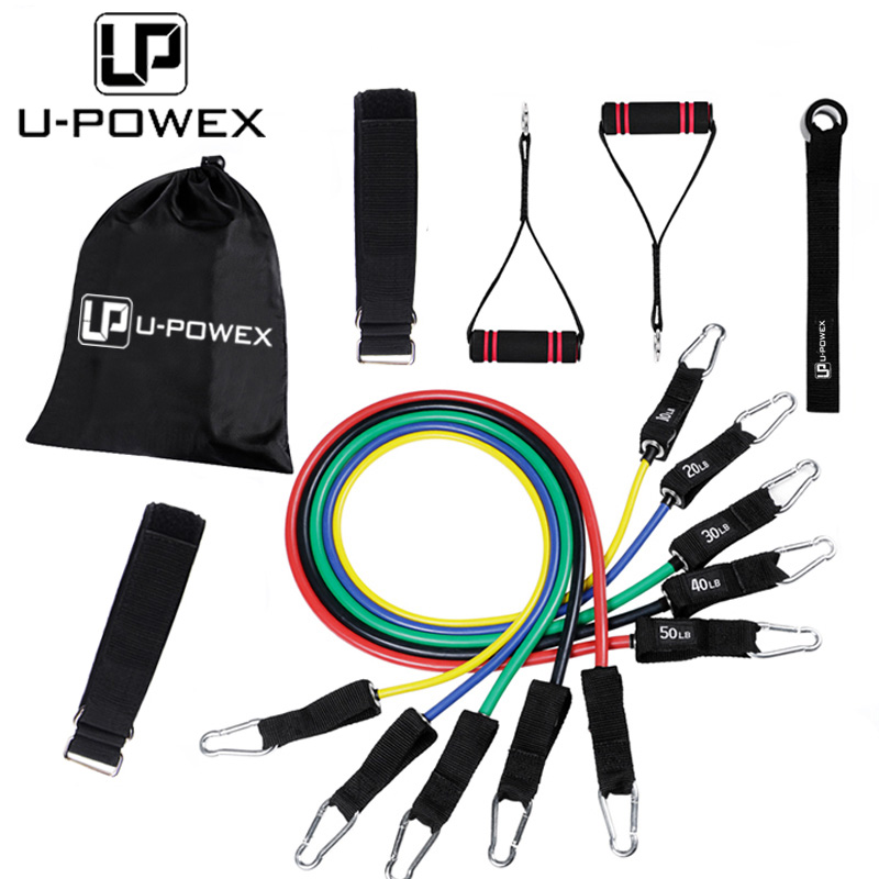 11 pcs Fitness Latex Resistance Bands Oefening Set