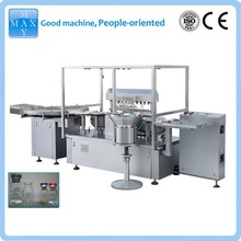 glass vial filling rubber stoppering machine