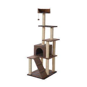 Manufacture Minimalism Home Style Cat Furniture Pet Cat Tree Luxury Wooden Cat Tree
