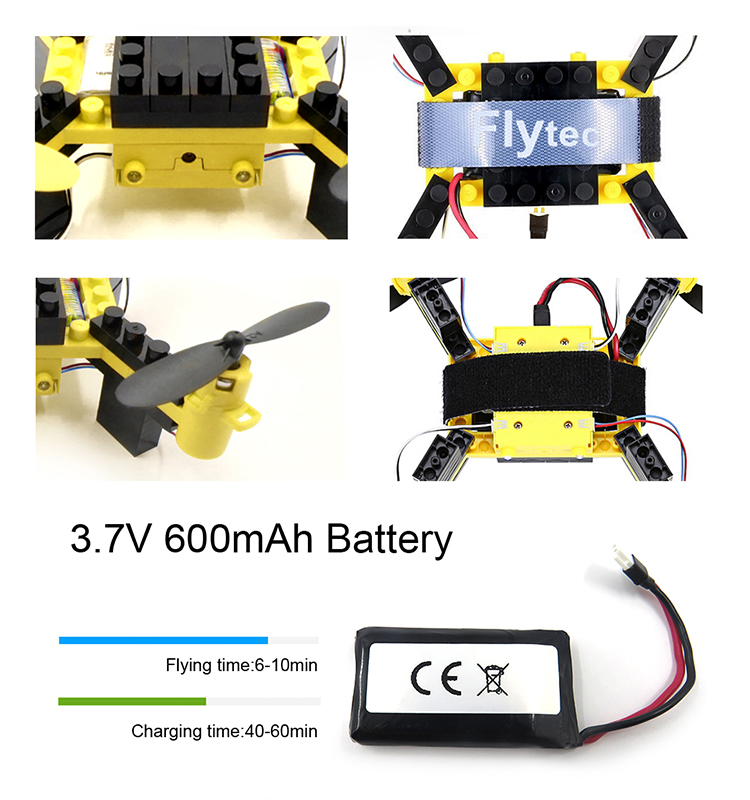 5. T11S_Yellow_WIFI_FPV_DIY_Building_Blocks_Drone_with_0.3MP_Camera_RC_Drone