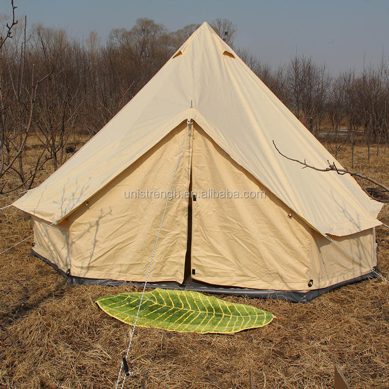 Best selling outdoor cotton canvas glamping tent luxury 3m 4m 5m 6m