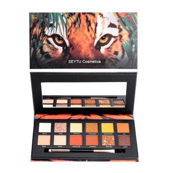 Perfect Eyeshadow Diary Explorer 12 Color Eye Shadow Tiger Piglet Ice Wolf 12 Color Animal Eye Shadow Makeup