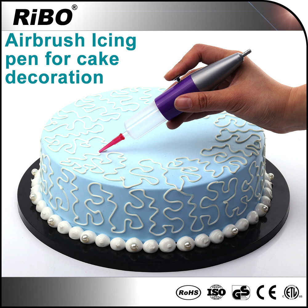 Hot air brush food electric cake decorating airbrush kits with compressor icing pen tools sets fondant