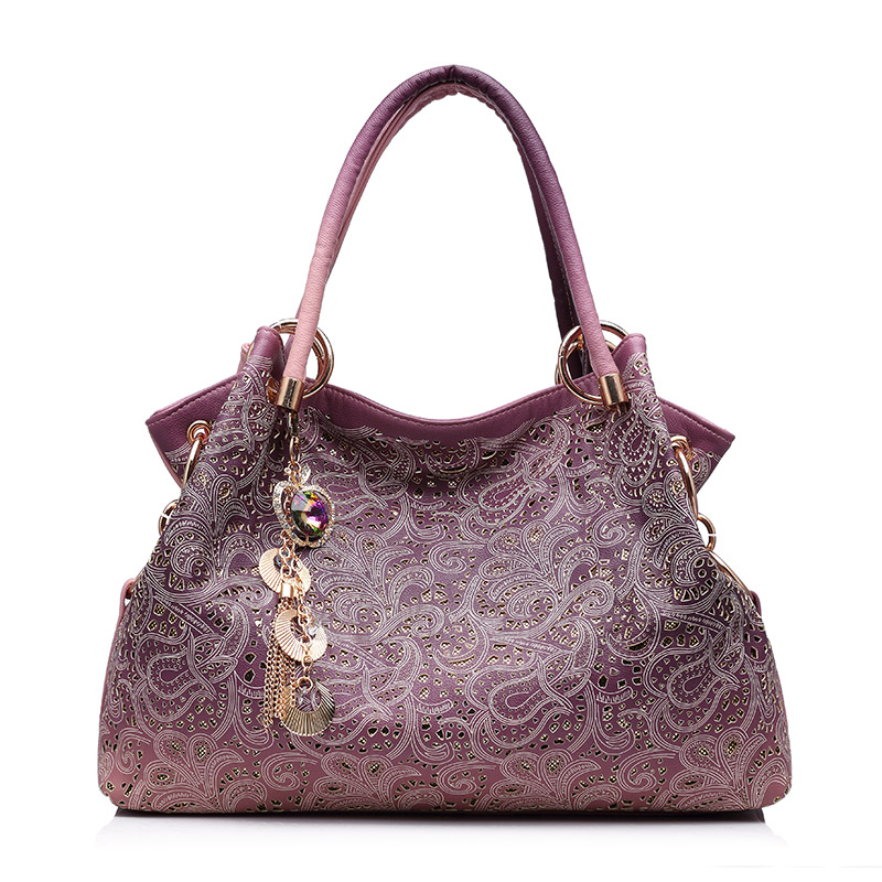 REALER большая сумка женская через плечо с орнаментом,сумки женские, ажурная сумка хобо из тисненой искуственной кожи,дамские сумочки,(Китай)