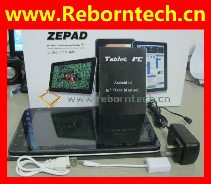 Zenithink c91 zepad capacitiva de 10 pulgadas android 4.0 ics tablet pc
