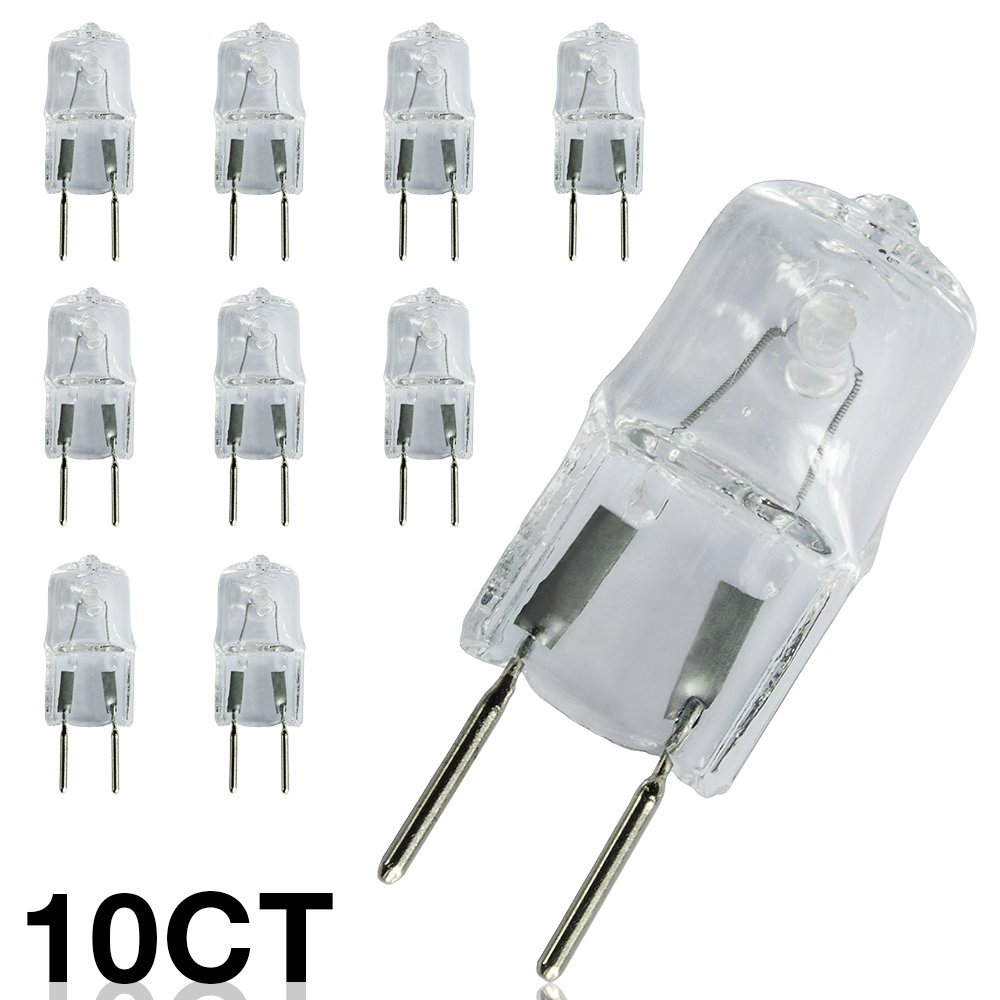 ETOPLIGHTING [10-Pack] 20W 120 Volt G8 Base Bi-Pin JCD Type Halogen Light Bulb, 8mm Two Pin Separation, 2,000 Life Hours, Value, Pack, APL1478