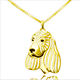 2017 best seller Cocker Spaniel Pendants Necklace Best Friend Necklace Hallow out Cocker Spaniel Dog Necklaces