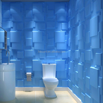 Available List Of Waterproof Materials 3d Pvc Wall Panel Bathroom Wall Panel
