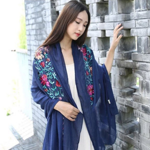 High Quality Women Lady Soft Shawls Promotional stock custom embroidered viscose Scarf