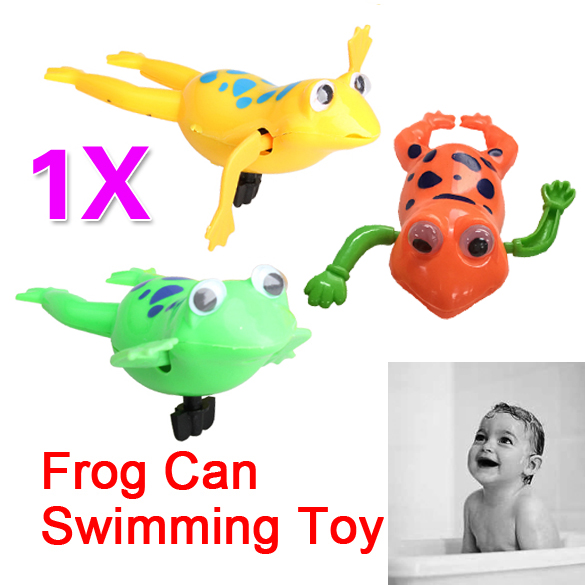 2016 wimming Frog Battery Operated Pool Bath Cute Toy Wind-Up Swim Frogs Kids Toy