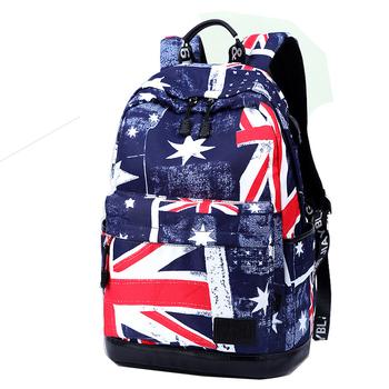 Fábrica Al Por Mayor Estilo Británico Estampado Floral Bandera De Inglaterra Patrón Mochila Pantalón Vaquero Para Adolescentes Universitarios Buy