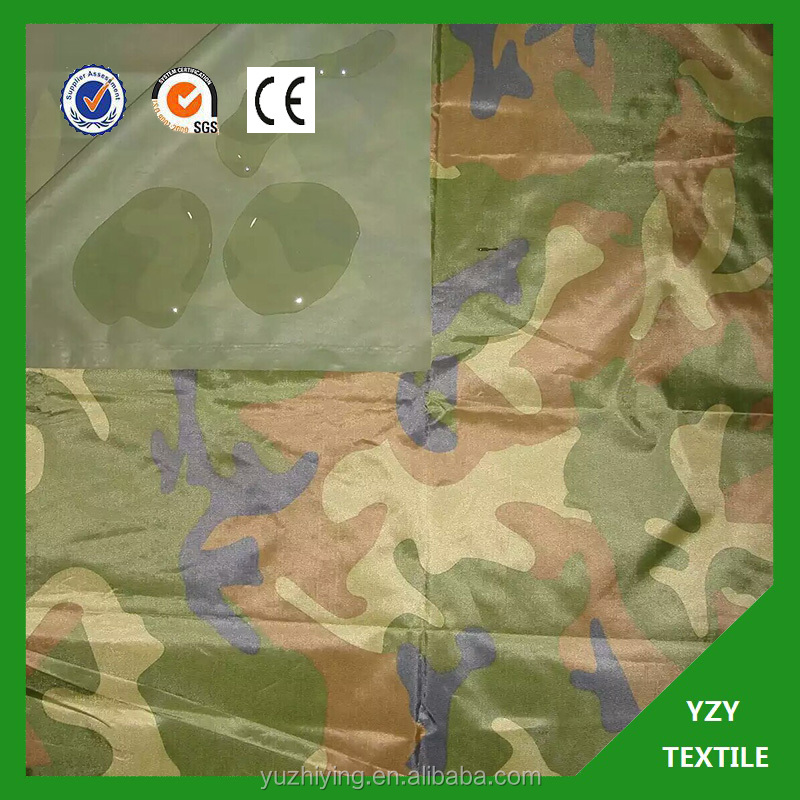 Polyester Taffeta Fabric PVC Coated For Gloves Florescent Yellow