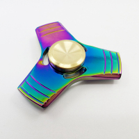 Hand spinner toys high quality anti stress toy colorful tri finger toy