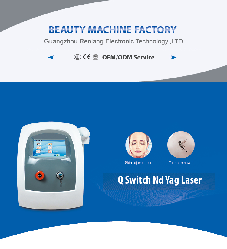 Powerful Nd Yag Laser Tattoo Removal Carbon Facial Rejuvenation Machine Q-Switched