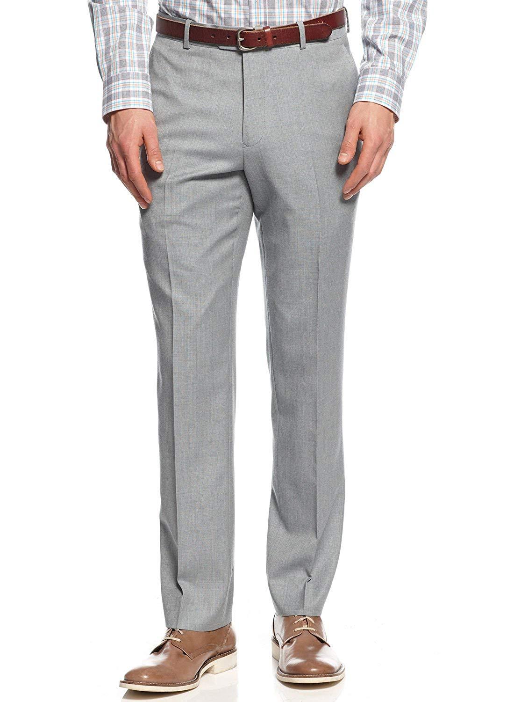Bar III Slim Fit Pants Light Blue Textured New Mens Dress Pants