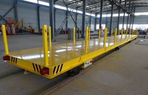 self-propelled battery operated bay to bay flat electric rail transfer cart