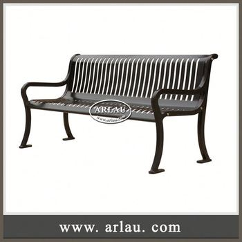 Arlau Bench Cast Iron, Cast Iron Bench Legs No Back, Hard Wood With Cast