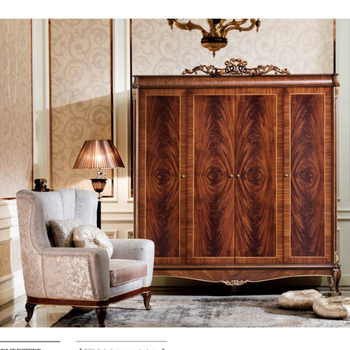 Yb70-2 Luxury American Solid Wood Bedroom Furniture Wooden Hand Carving 6  Doors Wardrobe With Glod Color Painting - Buy High Quality Wardrobe,6 Doors  ...