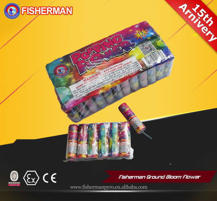 Wholesale Ground Bloom Spinner Flower novel Fireworks With Cracker