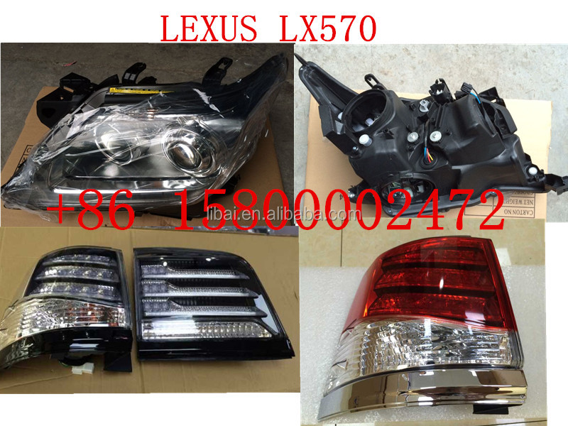 LED head light head lamp and tail light for Toyota lexus LX570 2015
