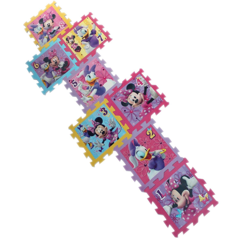 Get Quotations 8 Piece Disney Minnie Mouse Kids Foam Jigsaw Hopscotch Puzzle Mat Playmat
