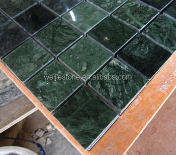 Verde Green Marble Mosaic Tile Dark Floor