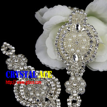 Wolesale Bridal Sash Applique wedding applique, crystal beaded wedding dress belt for decoration