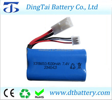 18650 7.4v 1500mah rc high speed boat battery 7.4v 1500mah 15C rc car rc helicopter battery