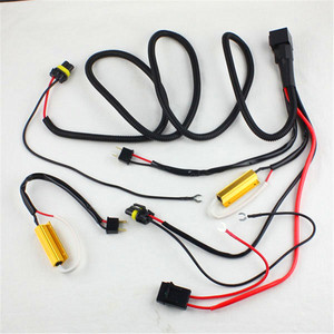 100W 50W Car HID Xenon Relay Cable wire harness H1 H3 H7 H11 9005 9006 HID headlight bulbs double canceller decoder resistor