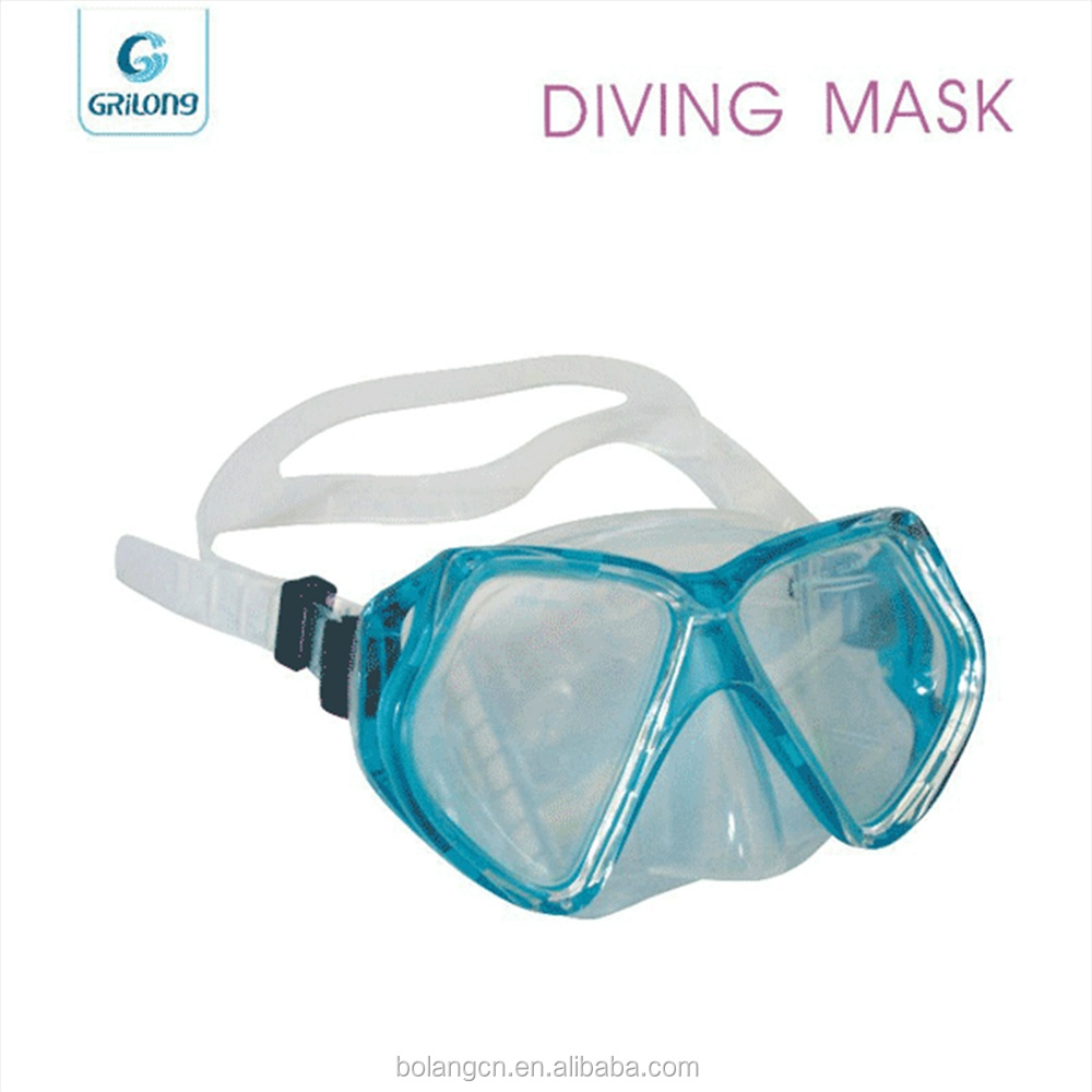 Chinese manufacture Silicone swim glasses cool diving mask with silicone strap