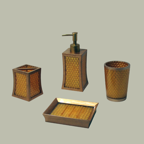 gold coloured bathroom accessories | My Web Value