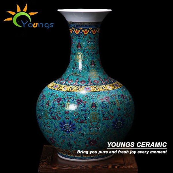 H54cm Big Blue Ceramic Decorative Floor Vases For Home Hotel Buy