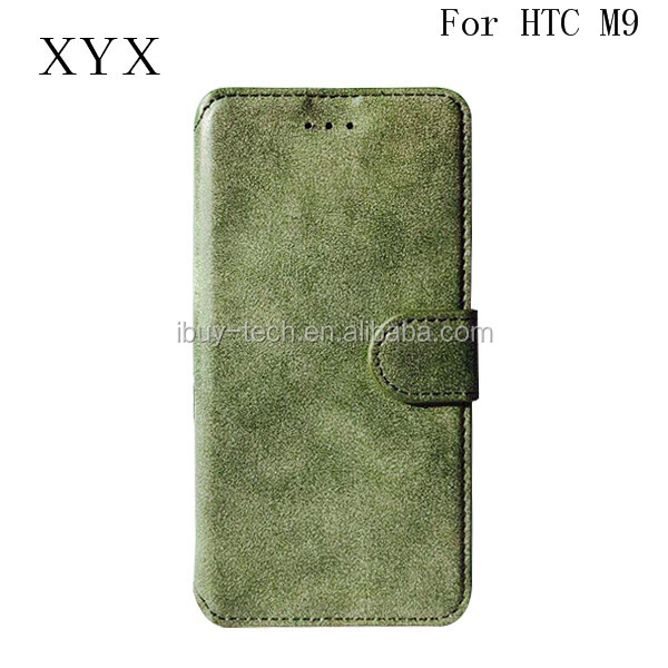 2017 New Style Flip Leather Cover Case For HTC M9 Case For Mobile Cell Phones HK Exhibition Booth No 11K20