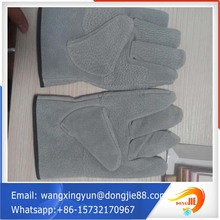 gray & brown natural cow split leather working gloves