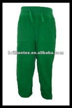 2012 newest design polar fleece green baby pants pattern