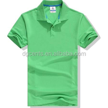 Men's Hot sale pure color simple elegant design polo shirt with three buttons