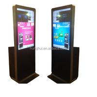 "Free Stand Social Media Photo Booths 42"" Touch Screen LED Instant Photo Printer Kiosk"