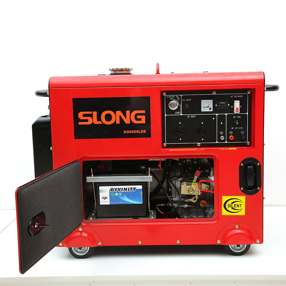 POWER FOR WELDERS 186FA <strong>DIESEL</strong> ENGINE 5 KW SILENT <strong>DIESEL</strong> GENERATOR DG6500LDE