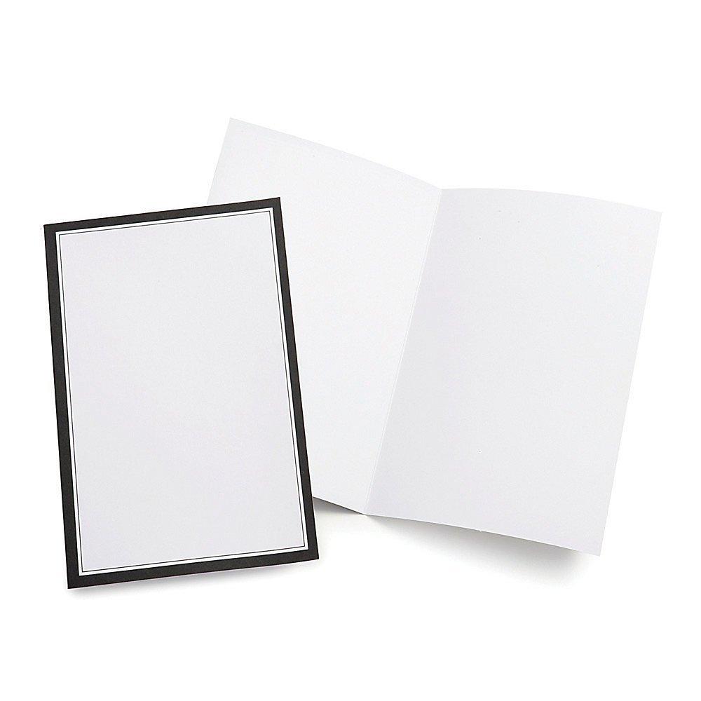 Gartner Studios Wedding Programs, Half Fold, 8 1/2' x 11', White With Black Border, Pack Of 50