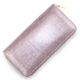 Wholesaler 2018 OEM Laser Bling Glitter Zipper Long Clutch bag for Party Lady Purse PU Leather wallet women