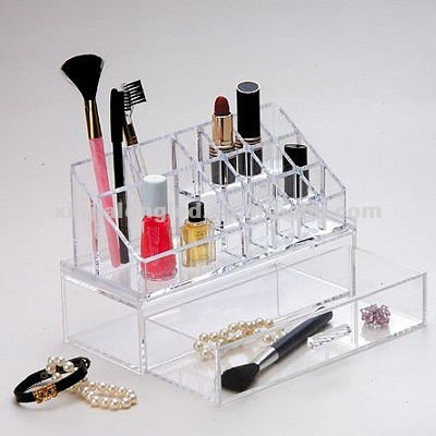 We Have Won Praise From Customers Bath Professional Sale Acrylic Makeup Jewelry Cosmetic Organizer Set Of 3 Drawers With Lipsick Holder Home & Garden