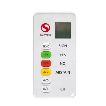 Wireless conference voting and polling system with lower price