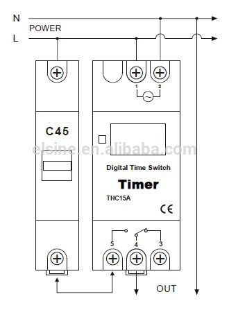 din rail mounting 28on  off weekly programmable timer