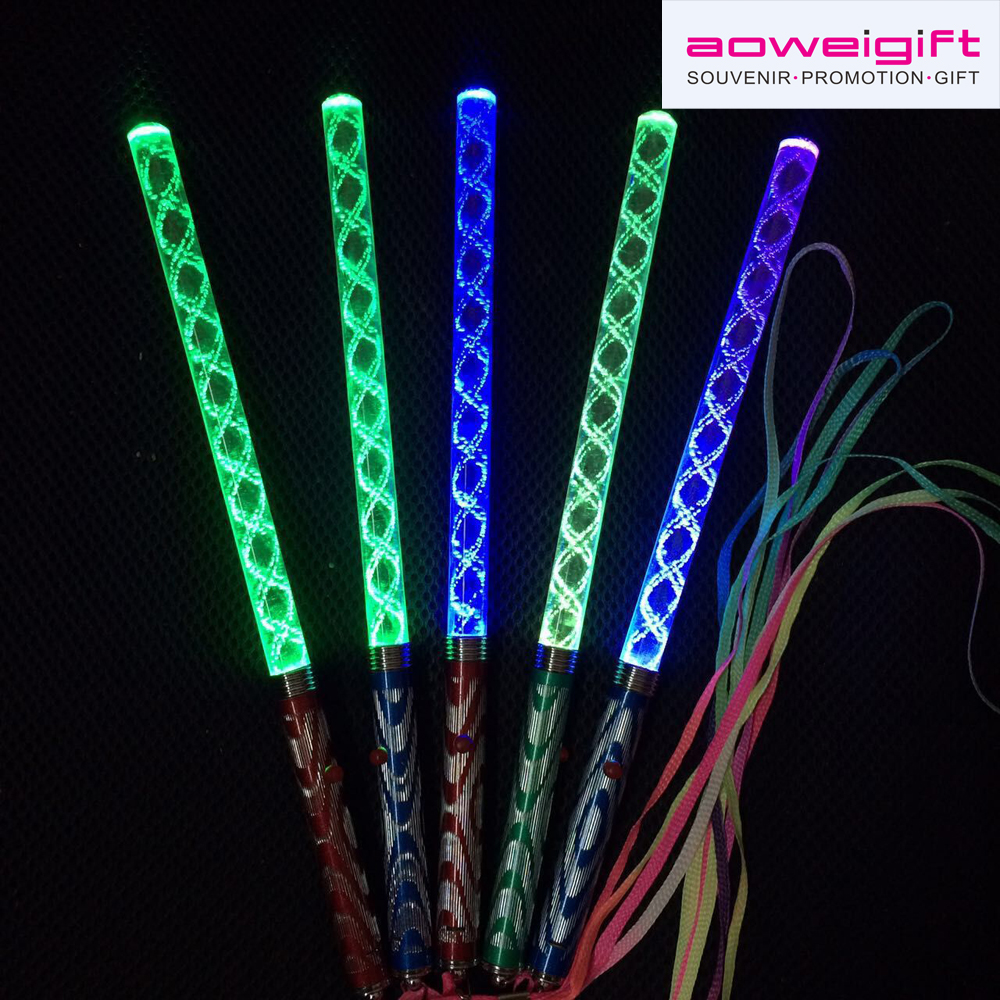 Custom Dazzle colour led light stick concert & party Atmosphere props led cheering stick
