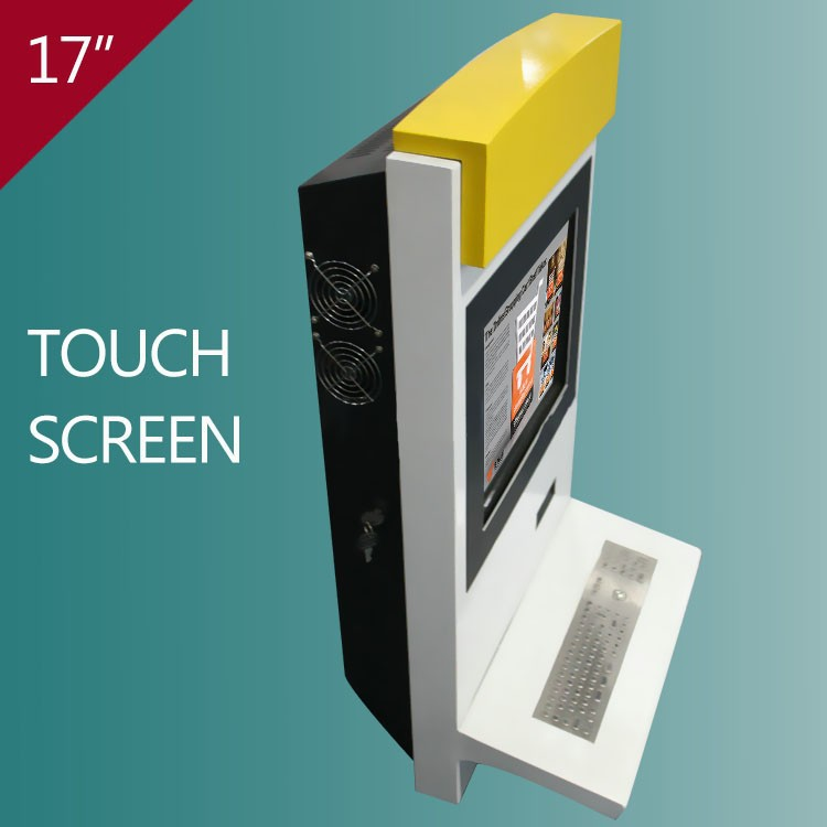 17 inch wall mounted windows pc built-in touch screen displays kiosk