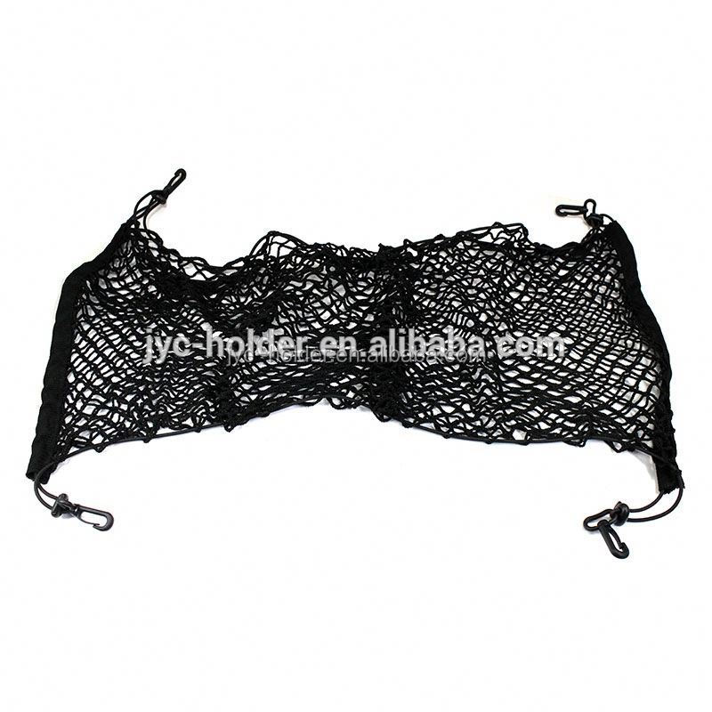 Organizer Storage Carrier Mesh Net ,JH21, black car trunk rear tail elastic mesh nylon cargo net with hooks