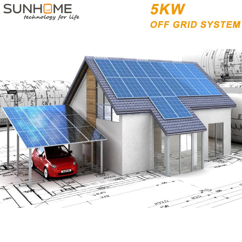 SUNHOME 5KW 2018 top ranking clean energy products clay garden ornaments clamp pv solar
